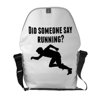 Did Someone Say Running Messenger Bag