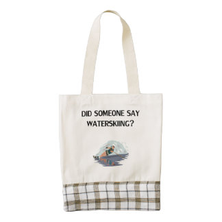 Did Someone Say Waterskiing? Zazzle HEART Tote Bag
