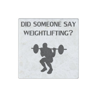 Did Someone Say Weightlifting? Stone Magnet