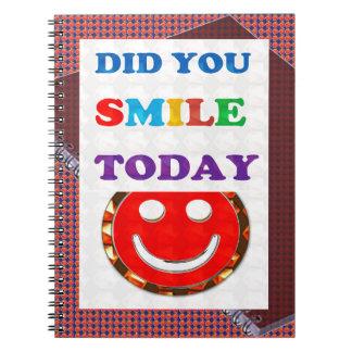 DID U Smile 2DAY - Bright Colors Positive Strokes Spiral Note Books