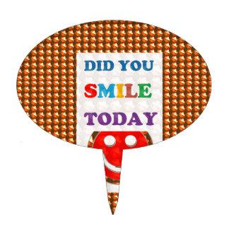 DID U SMILE S M I L E  today - ART NavinJoshi GIFT Cake Toppers