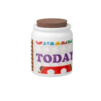 DID U SMILE S M I L E  today - ART NavinJoshi GIFT Candy Jar