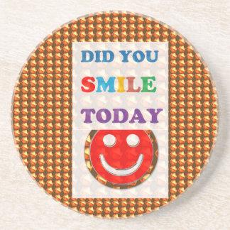 DID U SMILE S M I L E  today - ART NavinJoshi GIFT Beverage Coaster