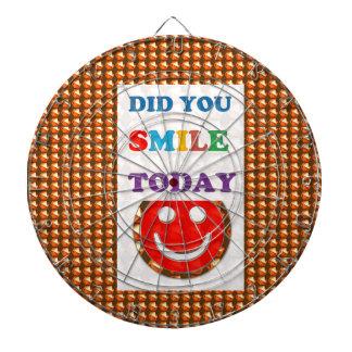 DID U SMILE S M I L E  today - ART NavinJoshi GIFT Dart Board