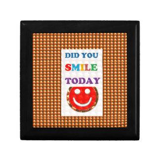 DID U SMILE S M I L E  today - ART NavinJoshi GIFT Gift Box