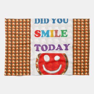 DID U SMILE S M I L E  today - ART NavinJoshi GIFT Towel