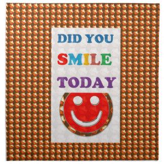 DID U SMILE S M I L E  today - ART NavinJoshi GIFT Napkins