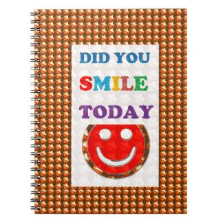 DID U SMILE S M I L E  today - ART NavinJoshi GIFT Spiral Note Books