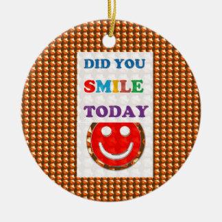 DID U SMILE S M I L E  today - ART NavinJoshi GIFT Christmas Tree Ornament