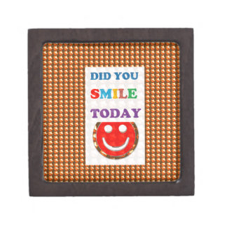DID U SMILE S M I L E  today - ART NavinJoshi GIFT Premium Jewelry Box