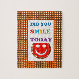 DID U SMILE S M I L E  today - ART NavinJoshi GIFT Jigsaw Puzzles