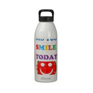 DID U SMILE S M I L E  today - ART NavinJoshi GIFT Drinking Bottles