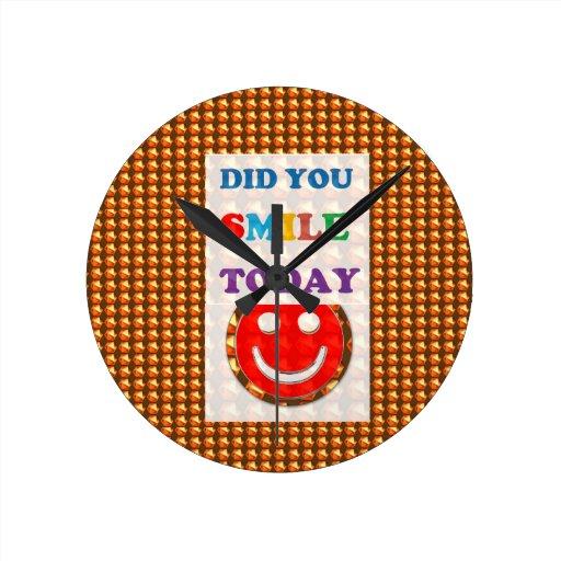 DID U SMILE today? Wisdom Golden Text Jewel FUN Wall Clock