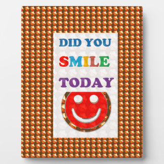 DID U SMILE today? Wisdom Golden Text Jewel FUN Photo Plaque