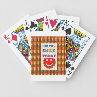 DID U SMILE today? Wisdom Golden Text Jewel FUN Playing Cards
