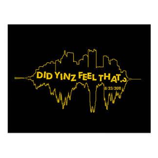 Did Yinz Feel That Postcard