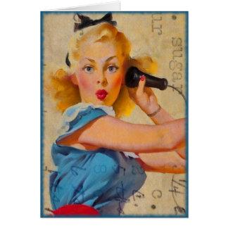Did You Call Me, Sugar?  Vintage Digital Art Card