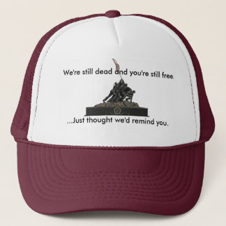 Did you forget something? trucker hat