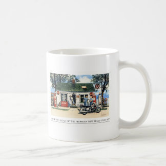 Did you get aload of the lady that rode that in ? coffee mug