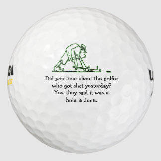 Did You Hear About the Golfer Who Got Shot - Joke Pack Of Golf Balls