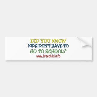 Did you know? Bumper Sticker Car Bumper Sticker