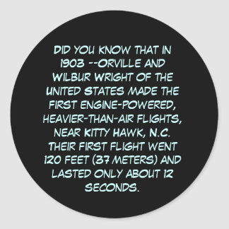 Did You Know? Classic Round Sticker