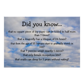 Did you know? poster