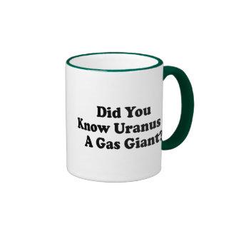Did You Know Uranus Is A Gas Giant Ringer Coffee Mug