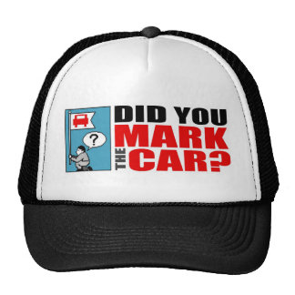 DID YOU MARK THE CAR? hat