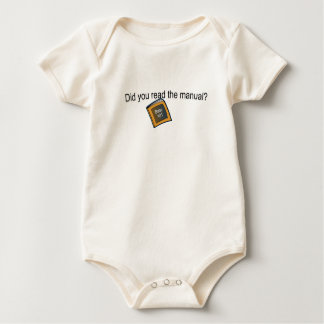 Did you read the manual? baby bodysuit