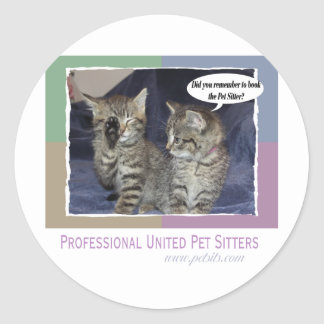 Did you remember to book the pet sitter? classic round sticker
