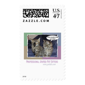 Did you remember to book the pet sitter? postage stamp
