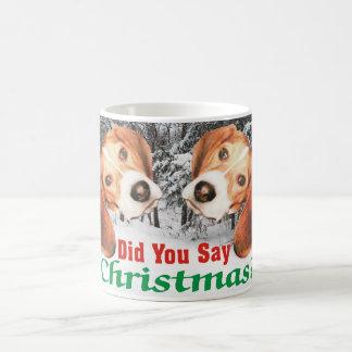 Did You Say Merry Christmas? Beagle Mug