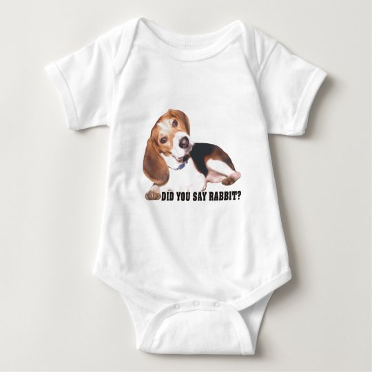 Did you Say Rabbit? Beagle Baby Bodysuit