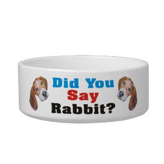 Did You Say Rabbit? Beagle Dog Bowl