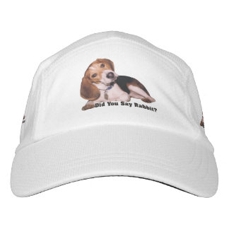 Did You Say Rabbit? Beagle Headsweats Hat