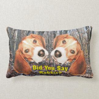 Did You Say Rabbit? Beagle Lumbar Pillow