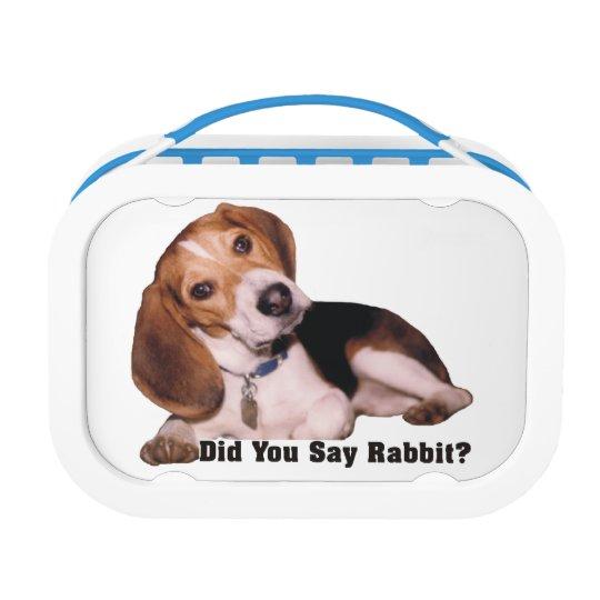 did you say rabbit beagle lunch box zazzle com