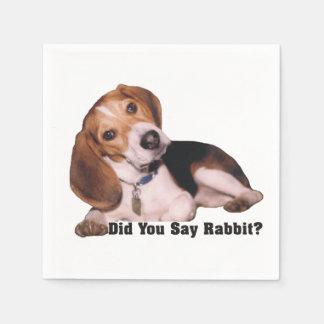 Did You Say Rabbit? Beagle Napkins
