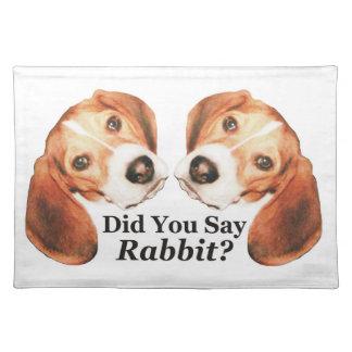 Did You Say Rabbit? Beagle Placemat