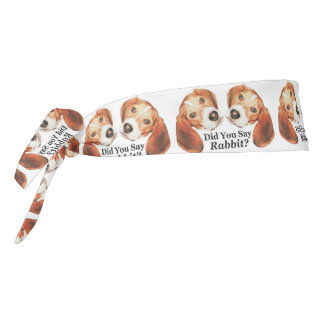 Did You Say Rabbit? Beagle Tie Headband