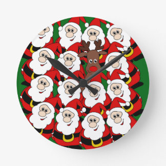 Did you see Rudolph? Round Clock