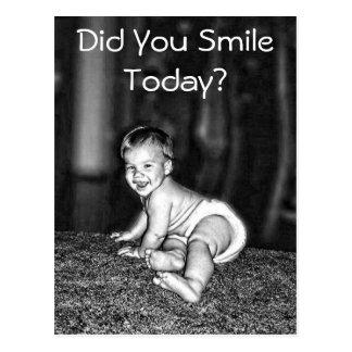 DID YOU SMILE TODAY? POSTCARD