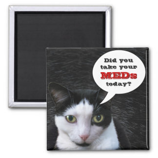 Did you take your MEDs today? 2 Inch Square Magnet