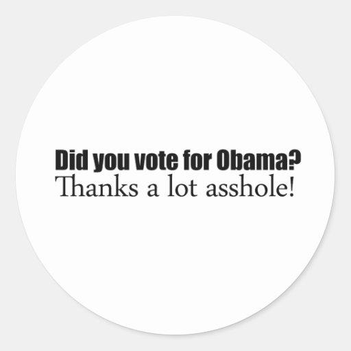 Did you vote for Obama Sticker