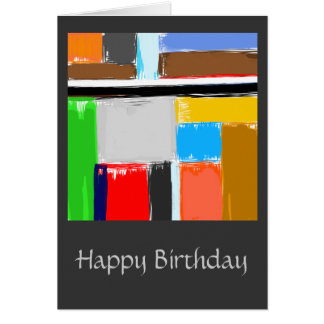 Didactic Happy Birthday Greeting Card