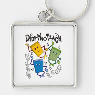 Didan Notzach Silver-Colored Square Keychain