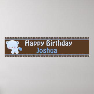 Diddles Boy Lion Birthday Banner Print