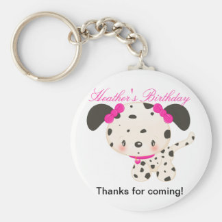 Diddles Dalmation Favor Keychain