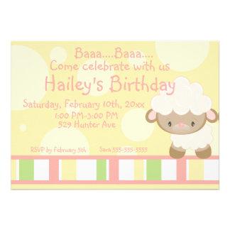 Diddles Farm Lamb Birthday Invitation 2